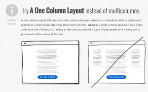 Conseil 1 : Try a one column layout instead of multicolumns