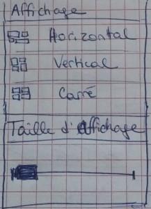 Exemple de note sur les paramètres d'affichage