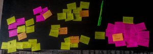 Photo de plein de post-its