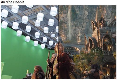 Avant-après effets spéciaux sur une scène de The Hobbit