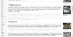 Mauvaise lisibilité sur Wikipédia