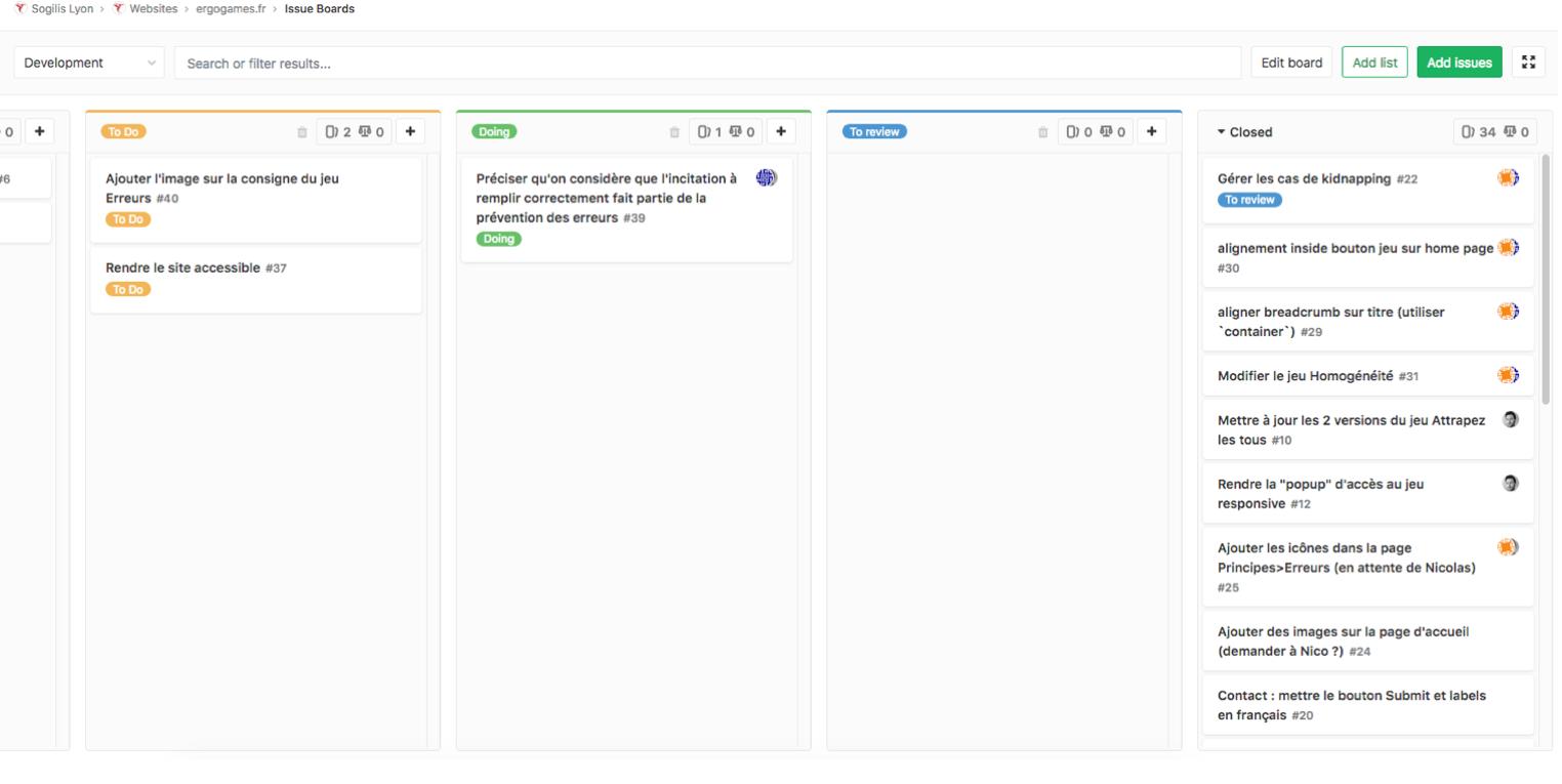 Illustration du flux de tâche dans Gitlab