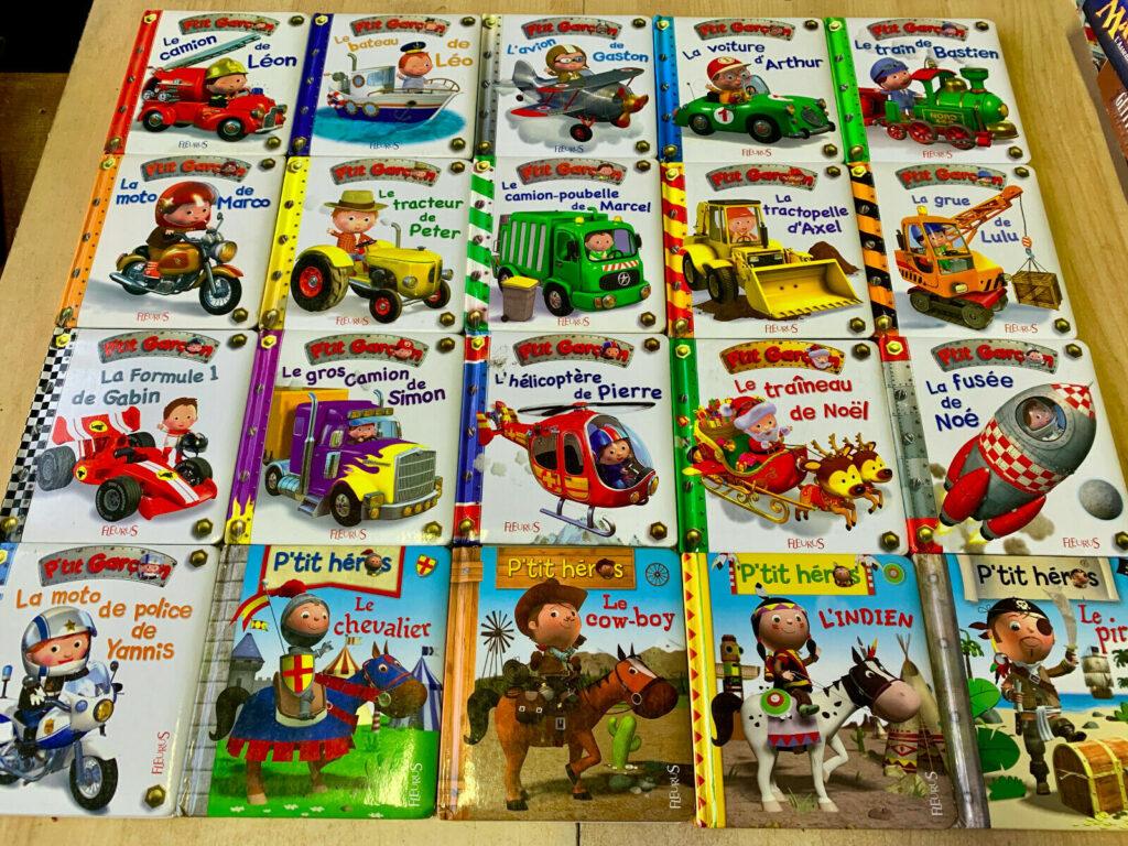 Photo de 20 livres des collections P'tit garçon et P'tit Héros
